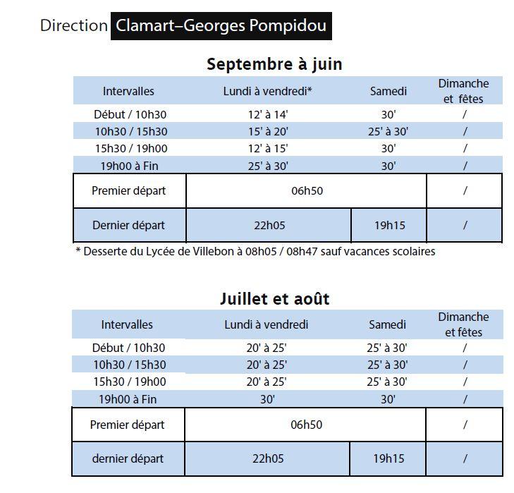 Bus 389 - Clamart - Trapèze - Hôtel de ville Boulogne-Billancourt Clipb302