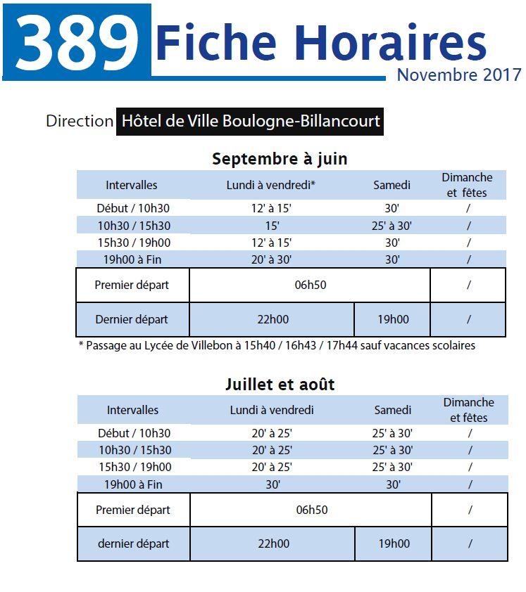 Bus 389 - Clamart - Trapèze - Hôtel de ville Boulogne-Billancourt Clipb303