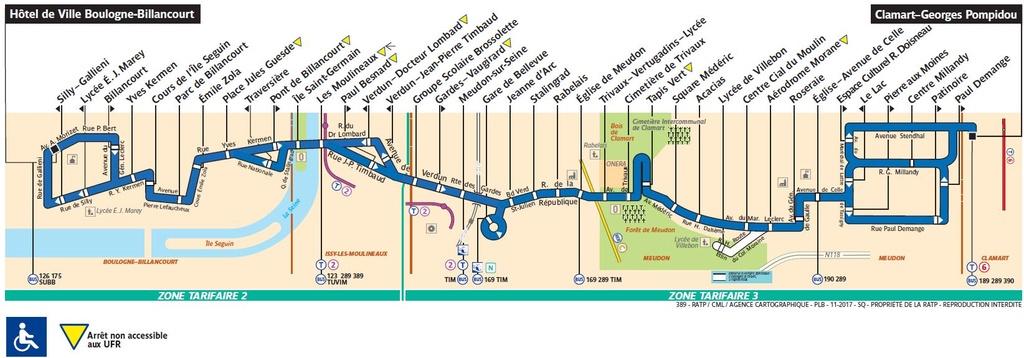 Bus 389 clamart trap ze h tel de ville boulogne for Piscine de boulogne billancourt horaires