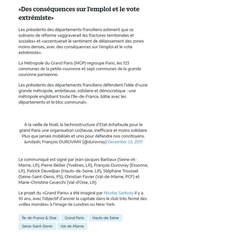 Fusion des départements des Hauts de Seine et des Yvelines Clipb373
