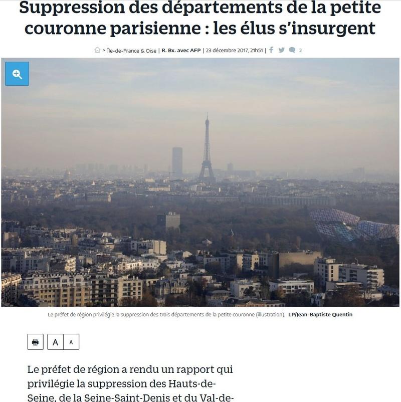 Fusion des départements des Hauts de Seine et des Yvelines Clipb375