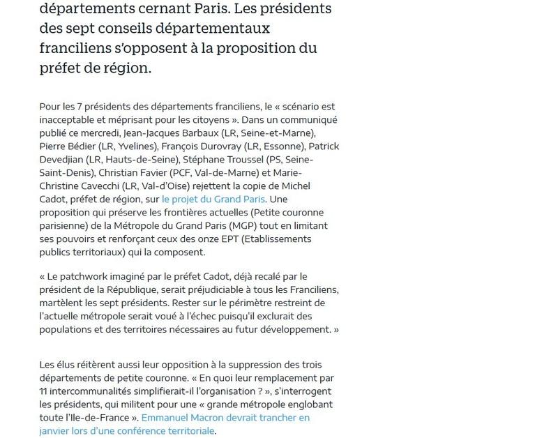 Fusion des départements des Hauts de Seine et des Yvelines Clipb422