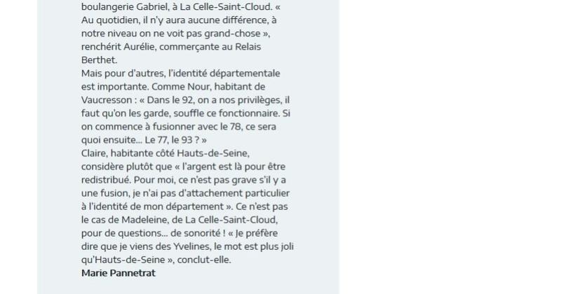 Fusion des départements des Hauts de Seine et des Yvelines Clipb483