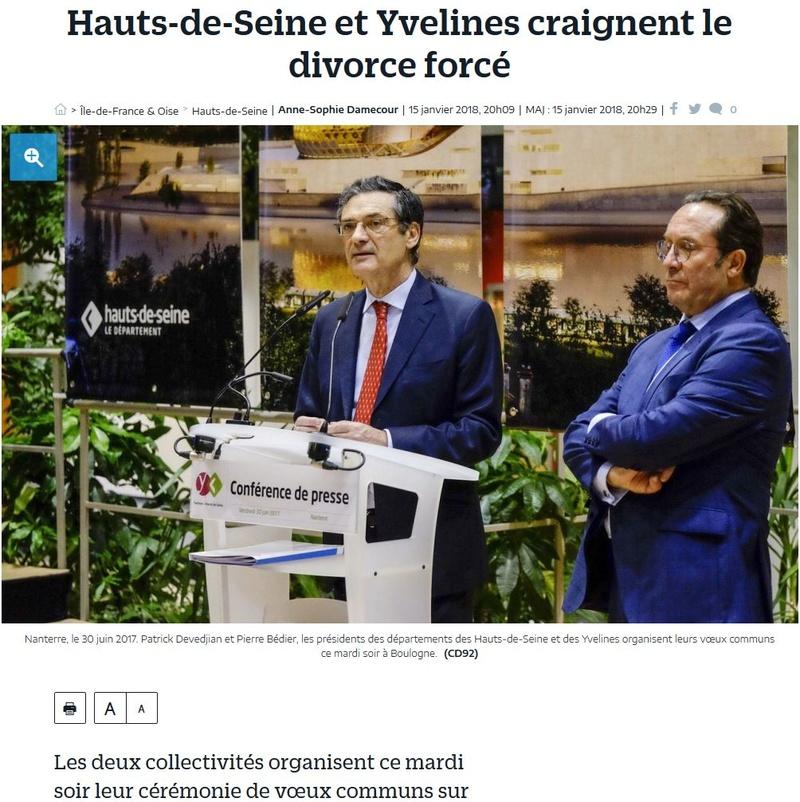 Fusion des départements des Hauts de Seine et des Yvelines Clipb486