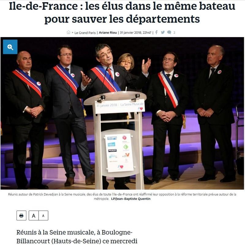 Fusion des départements des Hauts de Seine et des Yvelines Clipb618