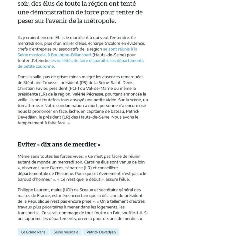 Fusion des départements des Hauts de Seine et des Yvelines Clipb619