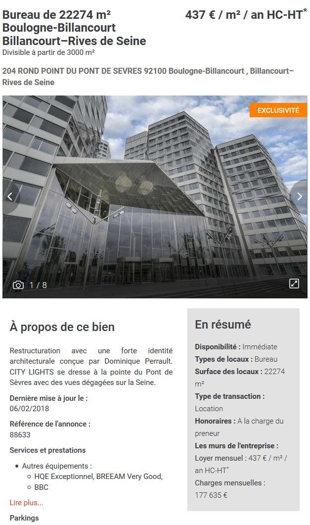 Immeuble Citylights (tours) Clipb639