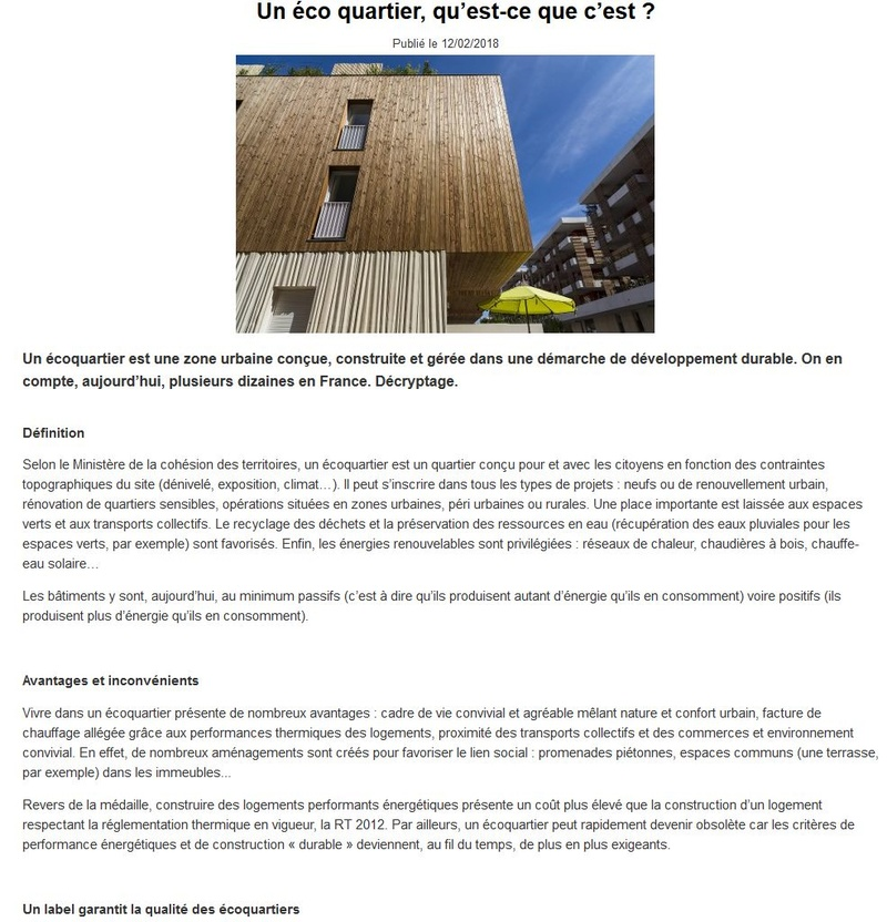 Grand Prix National EcoQuartier dans la catégorie « Performances écologiques / Innovation »  Clipb669