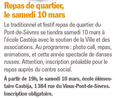 Repas du quartier du pont de Sèvres Clipb763