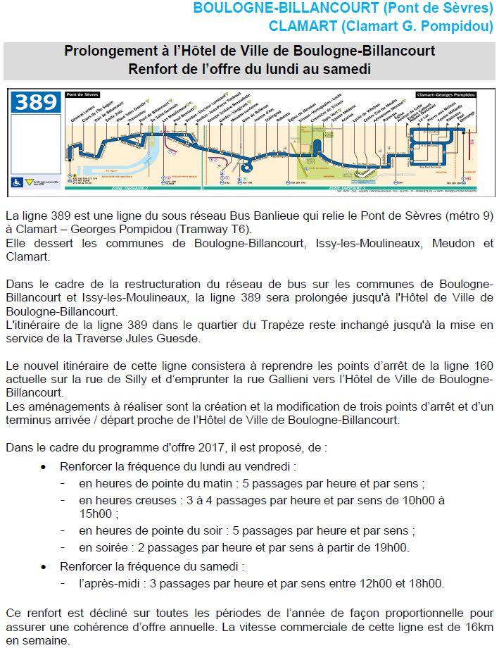 Bus 389 - Clamart - Trapèze - Hôtel de ville Boulogne-Billancourt Clipbo31