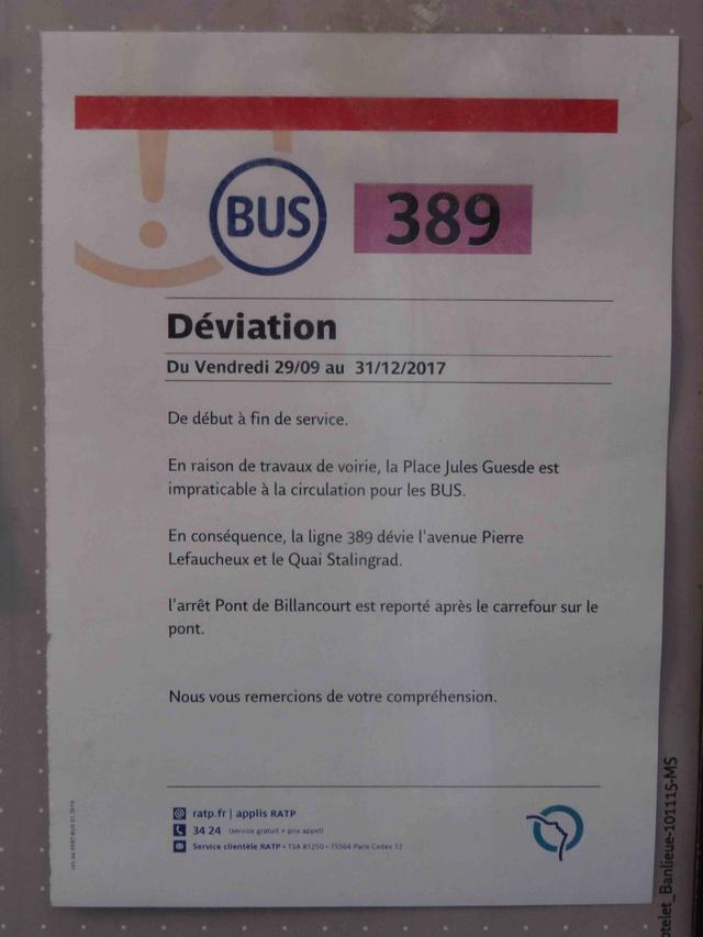Bus 389 - Clamart - Trapèze - Hôtel de ville Boulogne-Billancourt Dsc04318