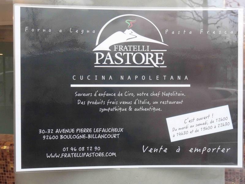Restaurant napolitain Fratelli Pastore Dsc04933