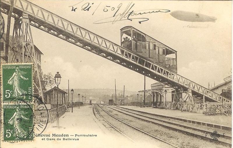 Funiculaire de Bellevue - Liaison de la gare T2 du Brimborion à la gare Transilien ligne N de Meudon Bellevue  Photo110