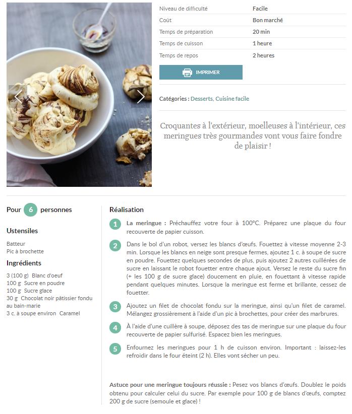 Meringues marbrées chocolat - caramel par Pauline Guillet  Captur31