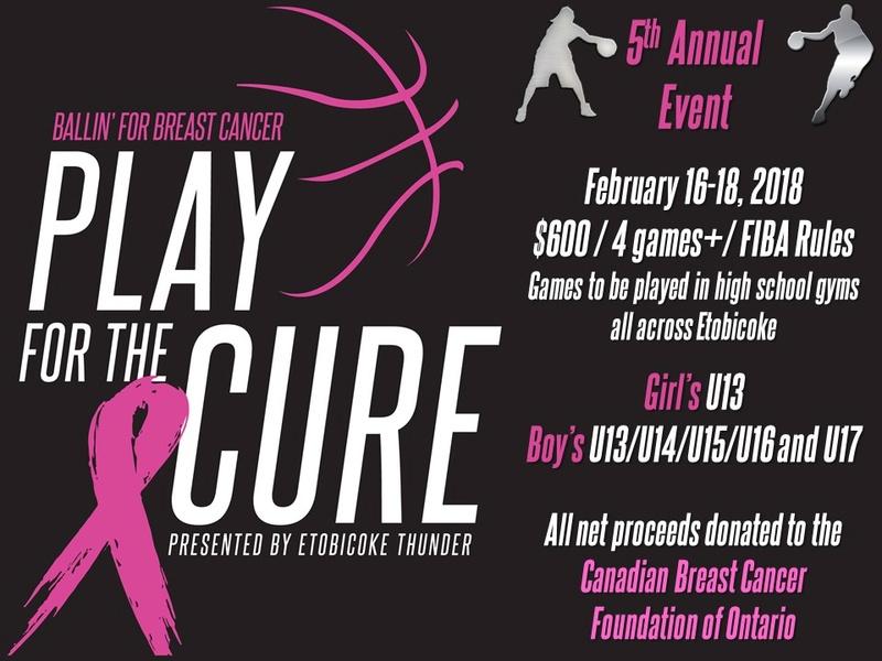 Etobicoke Thunder's Ballin' for Breast Cancer Tournament Ballin10