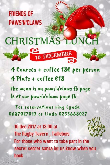 Christmas lunch / Repas de Noêl 10dec  Christ10