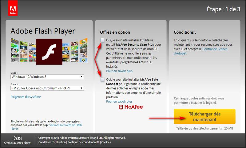 Mise à jour Adobe Flash Player - les pièges ! Captur93