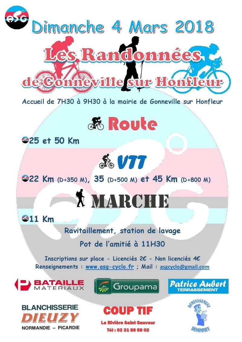 dimanche 4 mars 2018, Les randonnées de Gonneville sur Honfleur Affich10