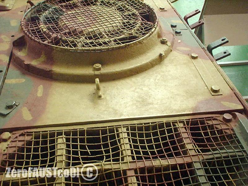 Taille des mailles sur ventilations des Panzers 96857610