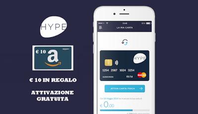 """HYPE """"INVITA I TUOI AMICI"""" regala BUONI AMAZON € 50 ogni 5 presentati e ulteriore BUONO AMAZON € 250 ogni 100 presentati [promozione valida fino al 21/02/2018] Hype_i10"""
