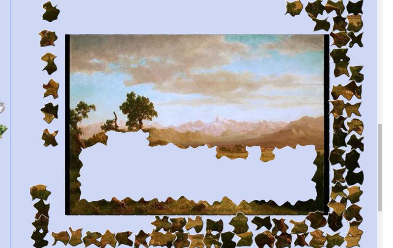 Puzzle #119 / Wind River Country par Albert Bierstadt Mimo16
