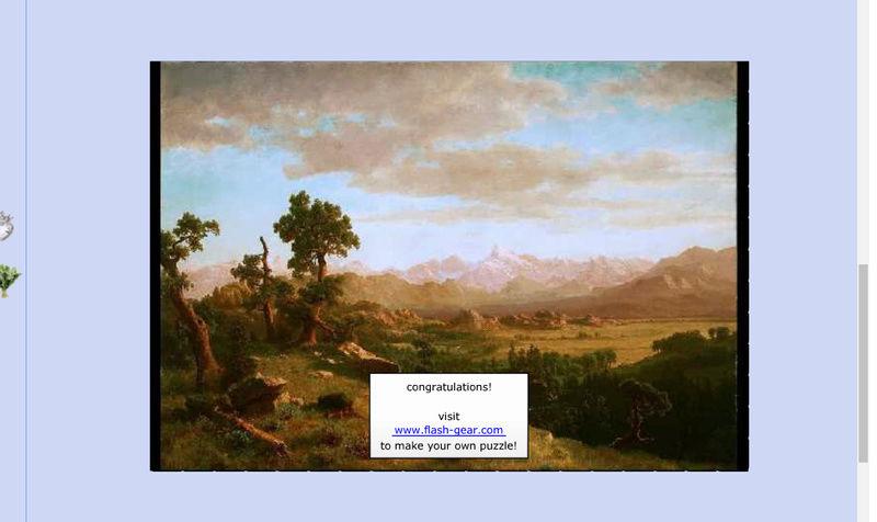 Puzzle #119 / Wind River Country par Albert Bierstadt Mimo17