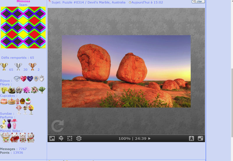 Puzzle #0314 /  Devil's Marble, Australia Mimo233
