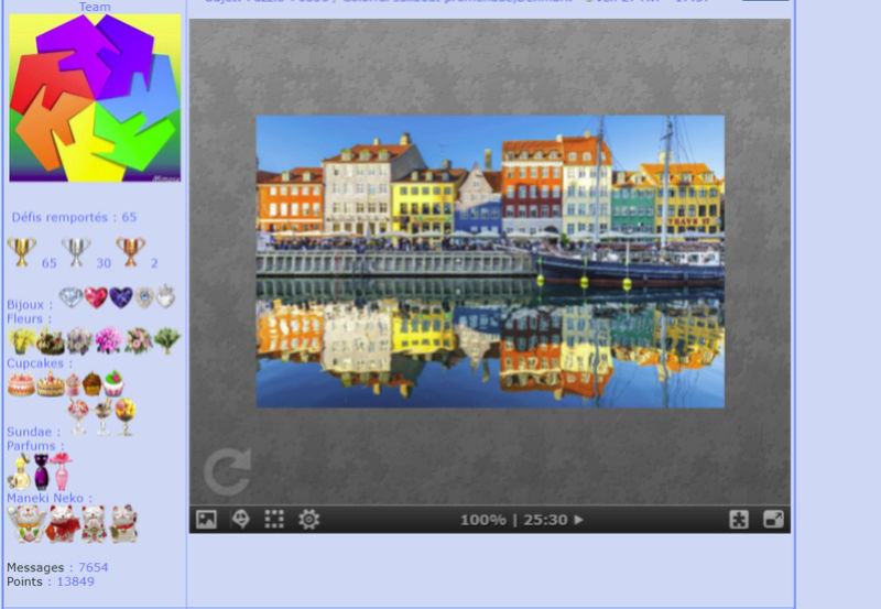 Puzzle #0336 / Colorful sailboat promenade,Denmark Mimo272