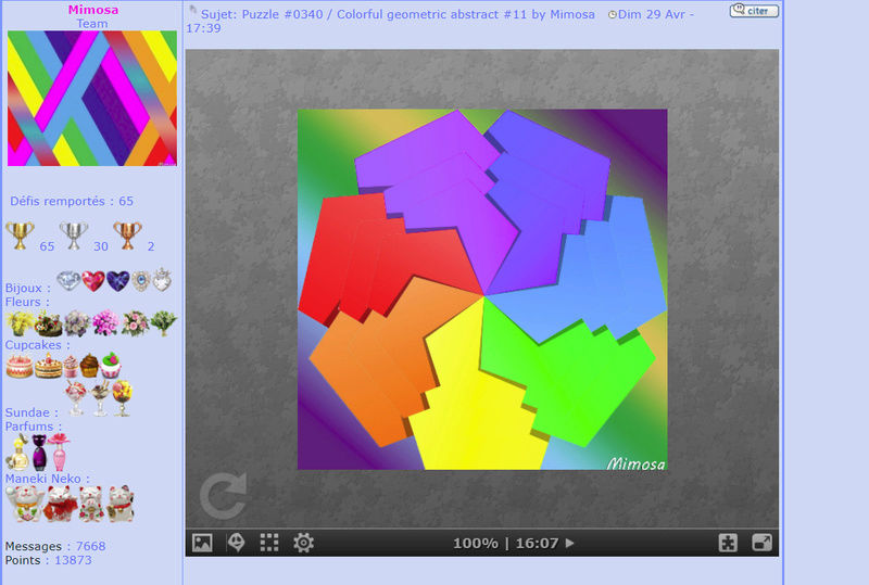 Puzzle #0340 / Colorful geometric abstract #11 by Mimosa Mimo278