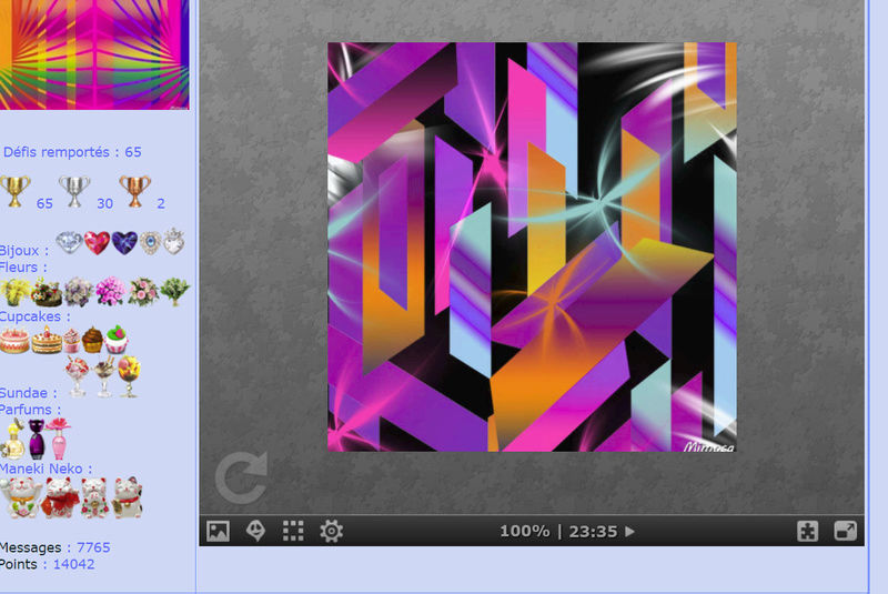 Puzzle #0378 / Colorful geometric abstract #22 by Mimosa  Mimo328
