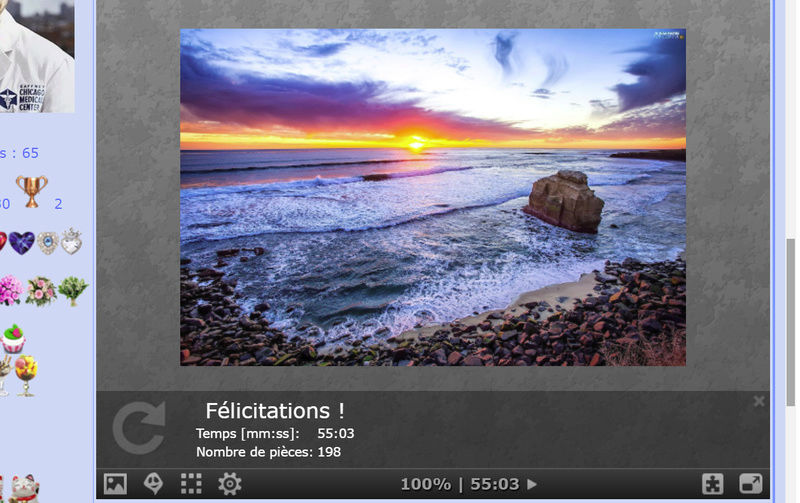 Puzzle #0173 / San Diago sunset Puzzl156