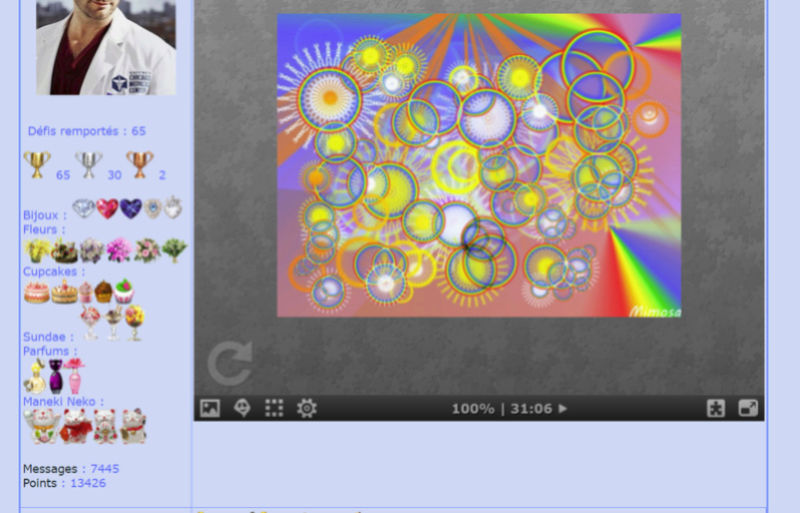 Puzzle #0204 / Colorful circles by Mimosa  Puzzl183