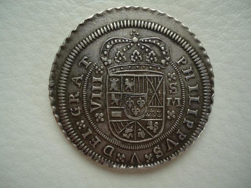 8 reales Felipe V 1709. Sevilla 24131412