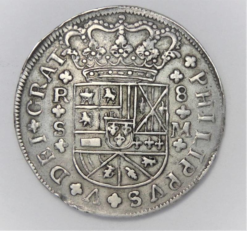 2 y 8 reales Felipe V 1723 y 1718. Sevilla 25442910