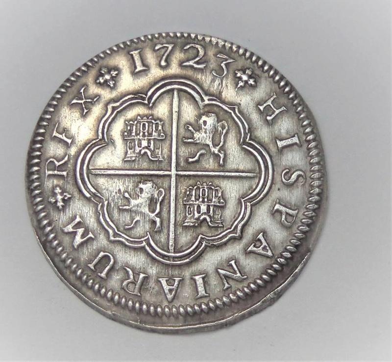 2 y 8 reales Felipe V 1723 y 1718. Sevilla 25446210
