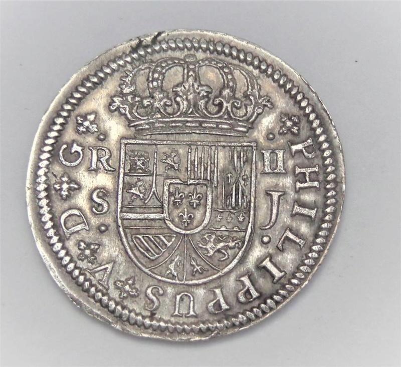 2 y 8 reales Felipe V 1723 y 1718. Sevilla 25508210