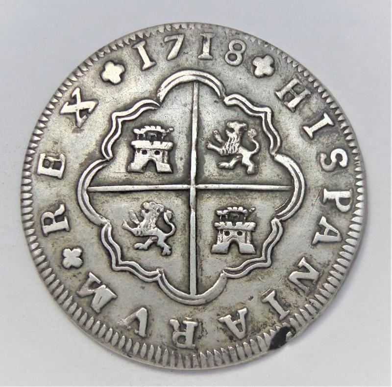2 y 8 reales Felipe V 1723 y 1718. Sevilla 25552110