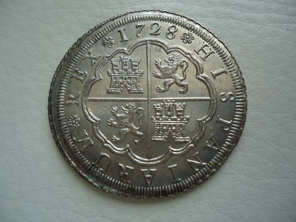 8 reales Felipe V 1728. Sevilla 33619910