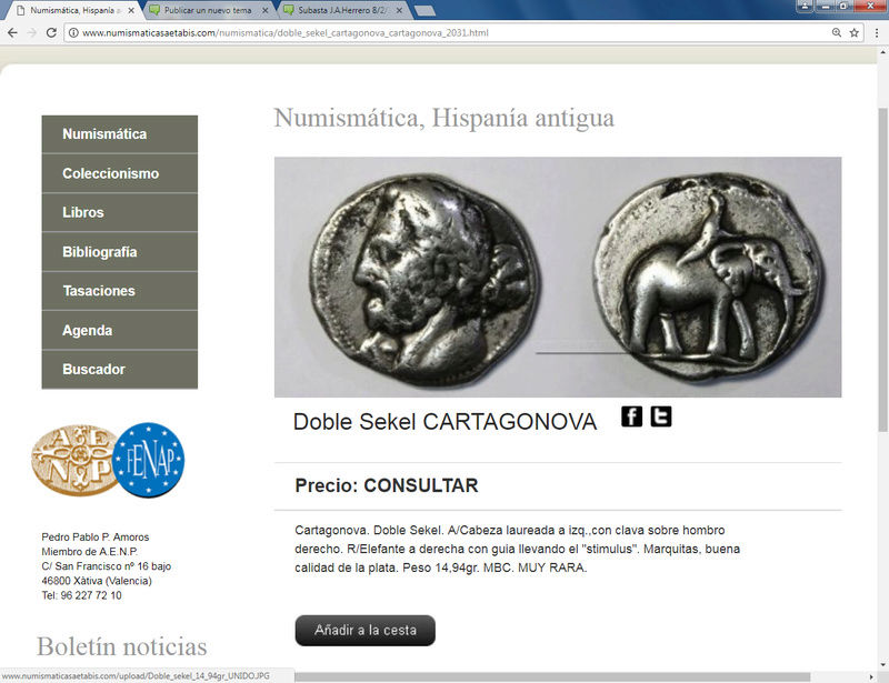 Numismática Saetabis con dos siclos y un palito. Doble_10