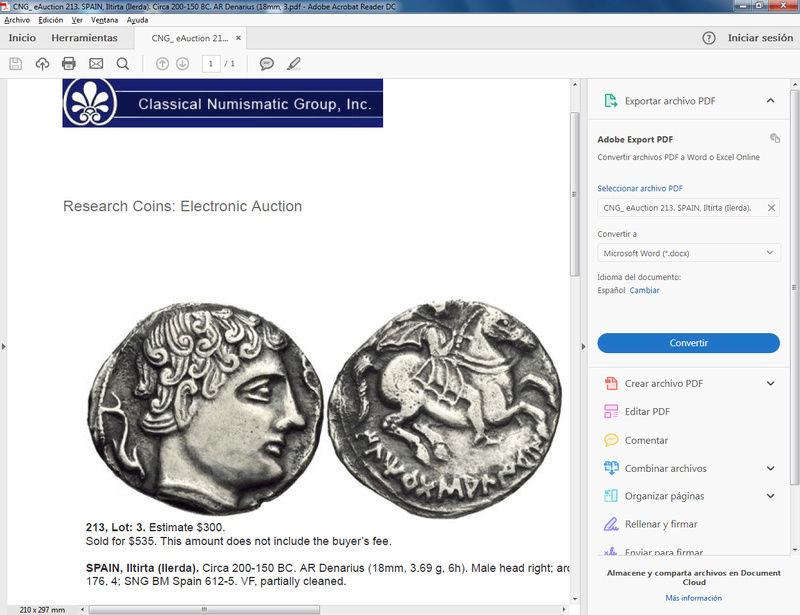 Classical Numismatic Group y sus Iltirtas, Bilbilis... Ilirta10