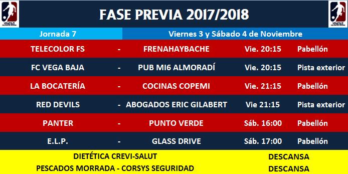 Fase previa XXXIX Edición liga local Callosa de Segura Jornad11