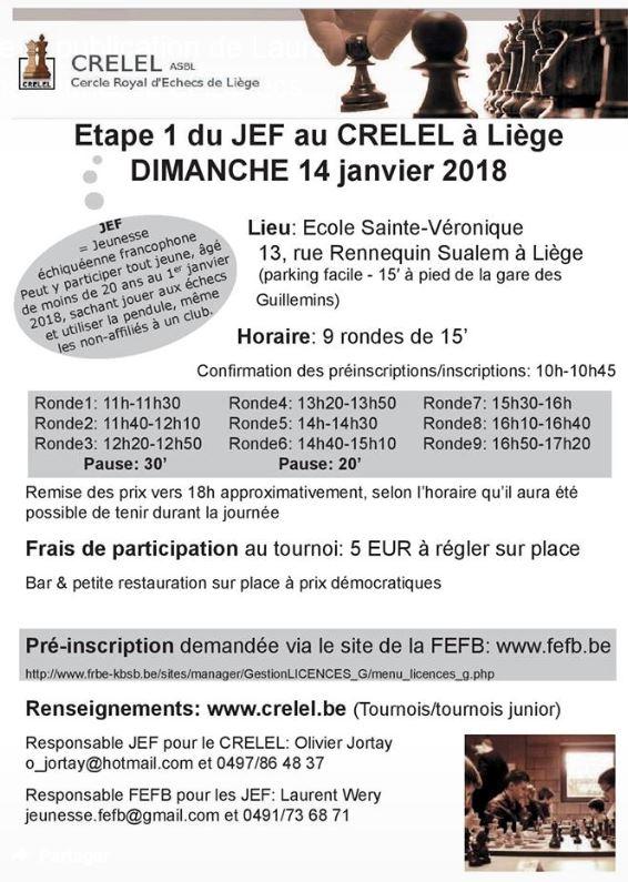 [JEF] Etape 1 du JEF le dimanche 14 janvier 2018 à Liège Cerlel10