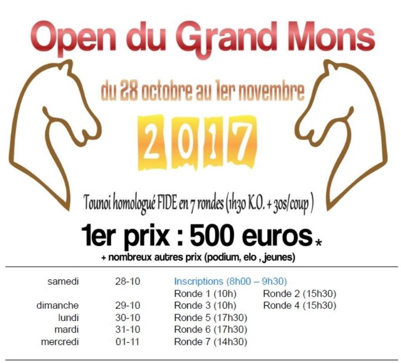 [OPEN DU GRAND MONS] Du 28 octobre au 1er novembre Mons2010