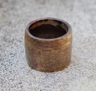 """Comment """"Chemiser"""" en argent  un corps de bague en laiton ,en cuivre... Dsc_6021"""