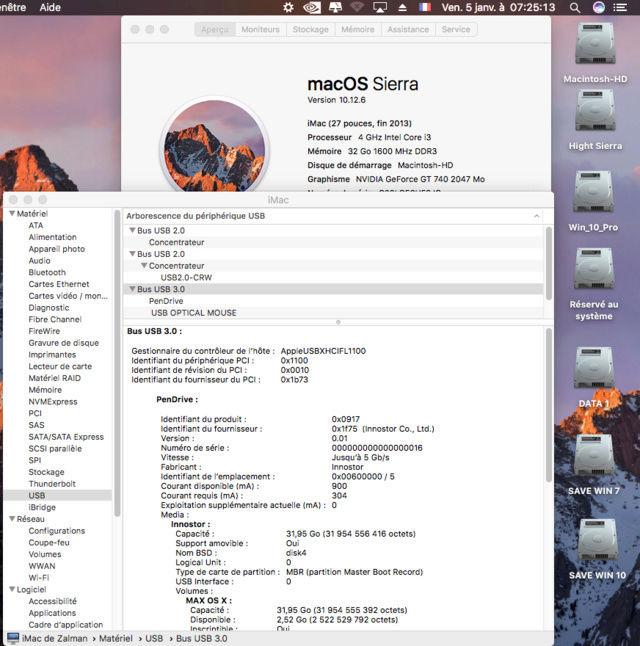 Sierra 10.12.6 Ports USB Captur37