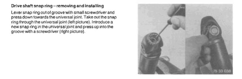 Drive Shaft U Joint 1985 K100RT Screen12