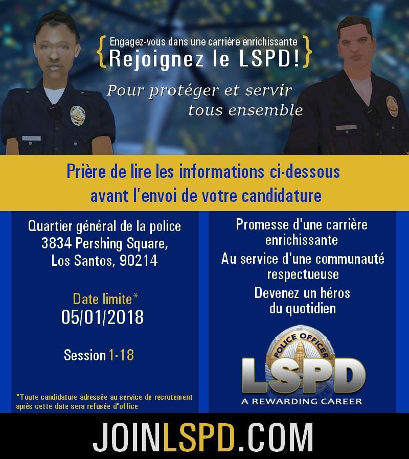 #LSPDHQ Ouverture de la session 1-18 1-1810