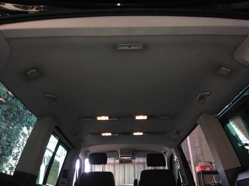 Démontage complet espace AR d'un Multivan Confortline 2006 Ciel111