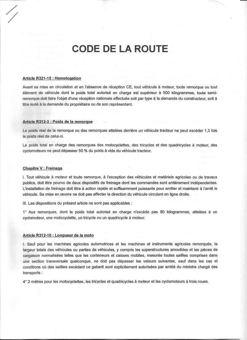 JURIDIQUE - remorques, réglementation bagagère 1-3fc210