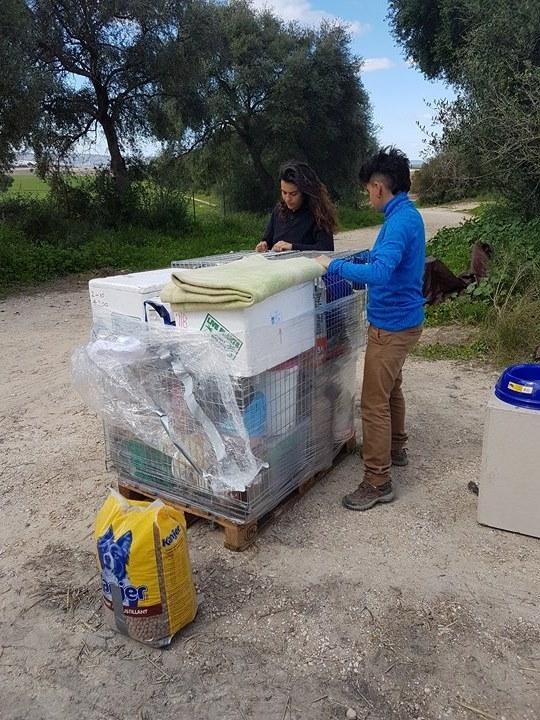1 pallet voor de dieren van La Pepa 238